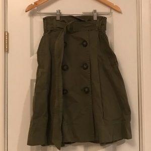 Jcrew green midi skirt